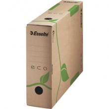 Scatola archivio Esselte ECOBOX dorso 8 cm avana/verde 8x23,3x32,7 cm 623916 (Conf.25)