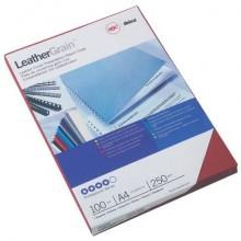 Copertine per rilegatura GBC Leathergrain in cartoncino goffrato rosso  conf da 100 copertine - CE040031