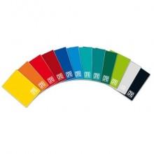 Quaderno a quadretti One Color A5 a punto metallico colori assortiti rigatura 7 - 1407 (Conf.10)
