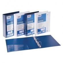Raccoglitore personalizzabile FAVORIT Europa 29,5x32 cm 4 anelli a D Ø 50 mm blu - 100460470