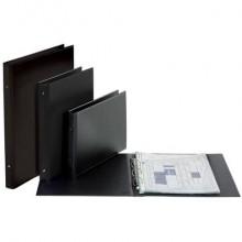 Raccoglitore personalizzabile FAVORIT 35,5x44 cm (libro) 4 anelli tondi Ø 30 mm nero - 100460473