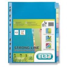 Divisore personalizzabile ELBA Strong Line A4+ 12 tacche neutre assortiti 400132505