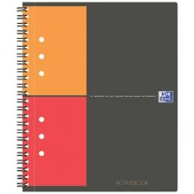 Blocchi spiralati OXFORD International Activebook A5+ grigio/arancio 100102880