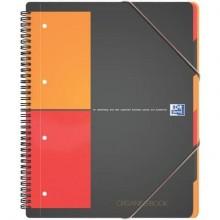 Quaderno spiralato OXFORD Organizerbook International A4+ grigio/arancio 100102777