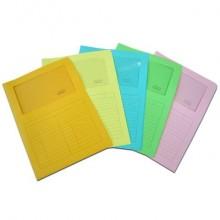 Cartellina con finestra Blasetti SINTEX aperta su due lati carta 120 g/m² 23x31 cm rosa  conf. da 50 - 0574