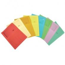 Cartellina con finestra Blasetti SINTEX aperta su due lati carta 120 g/m² 23x31 cm rosso  conf. da 50 - 0581