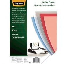 Copertine per rilegatura FELLOWES Super Clear PVC trasparente A3 conf.100 - 53764