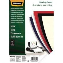 Copertine per rilegatura FELLOWES Delta goffrate cartoncino bianco A4 250 g/m² 29,8x21 cm  conf.100 - 5370104