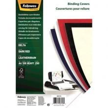 Copertine per rilegatura FELLOWES Delta goffrate cartoncino rosso scuro A4 250 g/m² 29,8x21 cm  conf.100 - 5371603