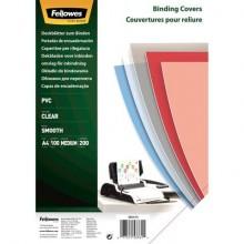 Copertine per rilegatura FELLOWES Super Clear PVC trasparente A4 conf.100 - 5376102