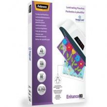 Pouches per plastificatrici Fellowes ImageLast Enhance80 finitura lucida - 2x80 µm - A3 - Conf. 100 pezzi - 5306207