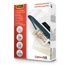 Pouches per plastificatrici Fellowes Standard Capture125 finitura lucida - 2x125 µm 75x105 mm Conf. 100 pz 5306901