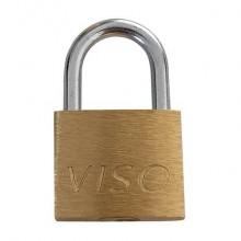 Lucchetti in acciaio con chiave in ottone Viso 16x20x7,5 mm oro confezione da 3 pezzi - CAD203SB