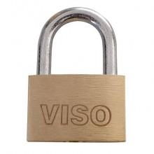 Lucchetto in acciaio con chiave in ottone Viso 20x30x7,5 mm oro CAD301SB