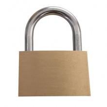 Lucchetto in acciaio con chiave in ottone Viso 25x40x9 mm oro CAD401SB