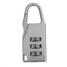 Lucchetto in acciaio a combinazione di 3 cifre Viso argento CBAG SB