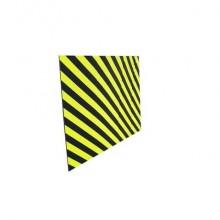 Protezione segnaletica in gomma Viso 100x150 cm nero/giallo PU1502NJ