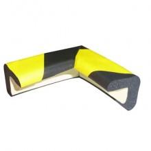 Protezione segnaletica in gomma angolare e angolare Viso 3x3cm - 7x7 cm nero/giallo - PU30NJ