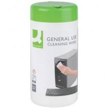 Salviette di pulizia multiuso Q-Connect senza alcool barattolo da 100 - KF04508A