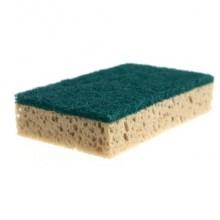Spugna abrasiva Vileda Professional in resina verde/tabacco conf. da 10 - 101879