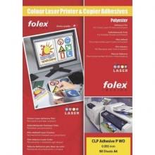 Film adesivo per laser e copiatrici Folex CLP Adhesive P CL 0,05 mm A4 trasparente  Cf. 50 - 2999C.050.44100