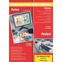 Film adesivo per laser e copiatrici Folex CLP Adhesive P WO 0,05 mm A4 bianco lucido  Cf. 50 - 2999W.050.44100