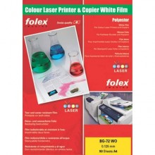 Film per laser e copiatrici Folex BG-72 WO bianco lucido 0,125 mm A4 Conf. 50 pezzi - 29729.125.44100