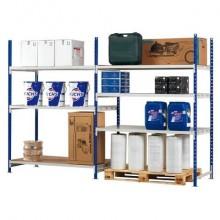 Modulo base scaffalatura Paperflow ad incastro RANG'ECO regolabile - 3 ripiani blu - K603180
