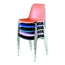 Sedia visitatore Unisit Esse ESC 4 gambe acciaio cromato - schienale fisso rosso Conf. 5 pezzi - ESC/5/RO