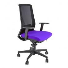 Sedia semidirezionale girevole Unisit Light LLN traslatore sedile rivestimento ignifugo blu - con braccioli - LLN/BR/IB