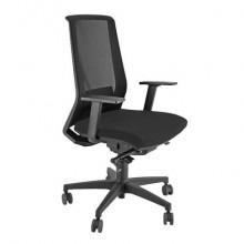 Sedia semidirezionale girevole Unisit Light LLN traslatore sedile rivestimento ignifugo nero - con braccioli LLN/BR/IN