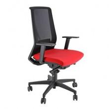Sedia semidirezionale girevole Unisit Light LLN traslatore sedile rivestimento ignifugo rosso - con braccioli LLN/BR/IR