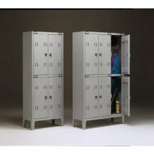 Spogliatoio sovrapposto Tecnical 2 a 4 posti acciaio 7/10 monoblocco B2+2