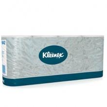 Carta igienica 2 veli KLEENEX® in carta a 2 veli 350 strappi bianco pacco da 8 rotoli - 8442