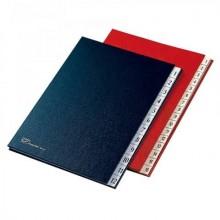 Classificatore numerico Fraschini in carta-cartoncino con dorso espandibile 24x34 cm rosso - 627-N-DR