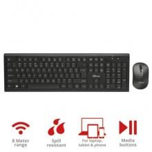 Set tastiera e mouse wireless TRUST Nola nero 18772