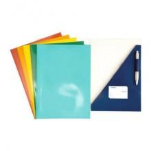 Cartelline a 2 lembi a incastro 4Mat 32x24 cm in cartoncino plastificato 300 g/m² rosso  conf. da 10 pezzi - 3770 02