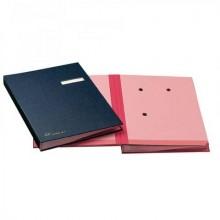Libro firma 18 intercalari FRASCHINI 24x34 cm -similpelle con porta etichetta intercambiabile rosso - 618-D-DR