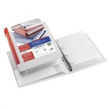 Raccoglitore personalizzabile Sei Rota Stelvio TI A4 - 4 anelli D 40 mm. rosso 36404632